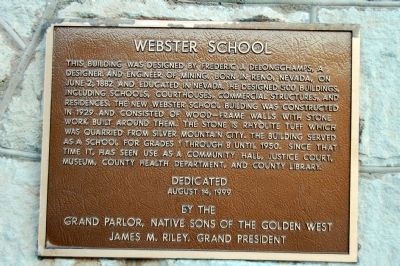 Webster School Marker image. Click for full size.