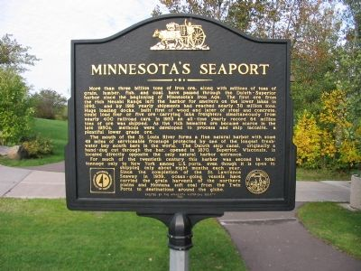 Minnesota's Seaport Back of Marker image. Click for full size.