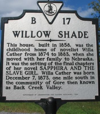 Willow Shade Marker image. Click for full size.
