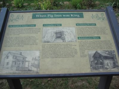 When Pig Iron was King Marker image. Click for full size.