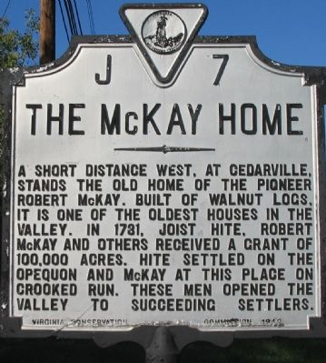 The McKay Home Marker image. Click for full size.