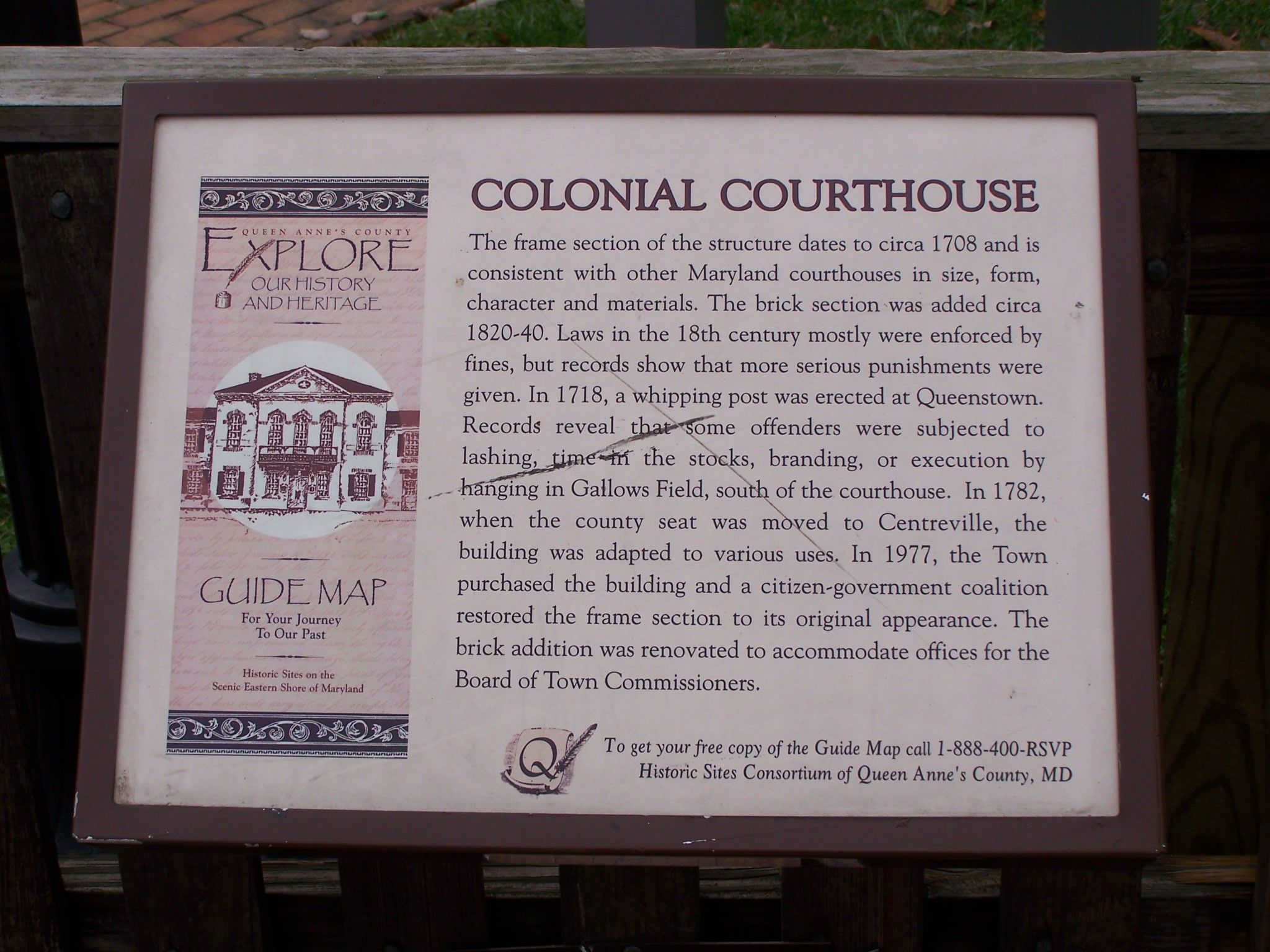 Colonial Courthouse Marker