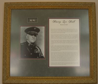 Commemorative display found inside Harry Lee Hall. image. Click for full size.