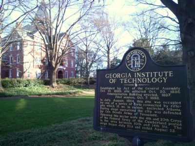 Georgia Institute of Technology Marker image. Click for full size.