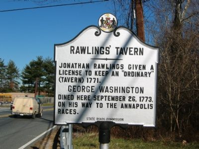 Rawlings' Tavern Marker image. Click for full size.