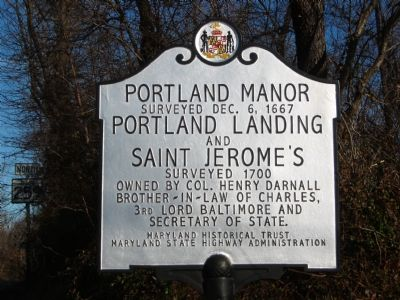 Portland Manor Marker image. Click for full size.