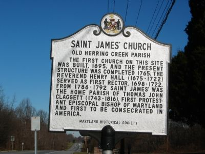 Saint James' Church Marker image. Click for full size.