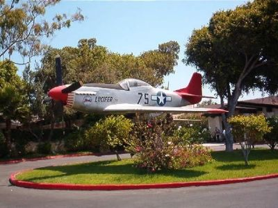 P-51 Mustang near Eagle Squadrons Marker image. Click for full size.