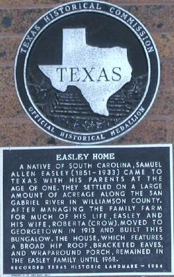 Easley Home Marker image. Click for full size.