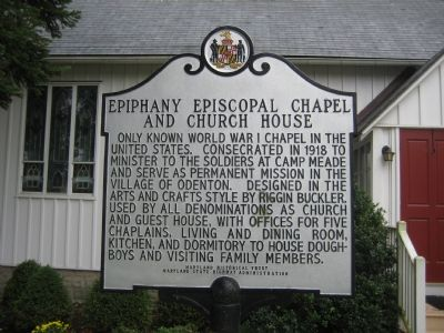Epiphany Episcopal Chapel and Church House Marker image. Click for full size.