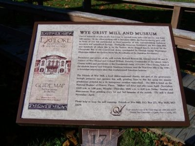 Wye Grist Mill and Museum Marker image. Click for full size.