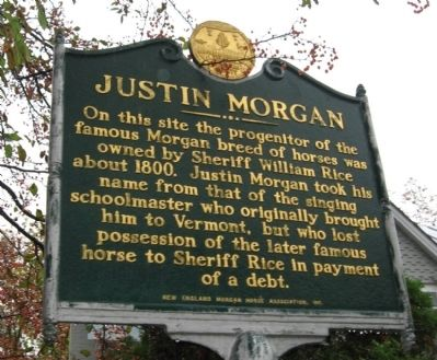Justin Morgan Marker image. Click for full size.