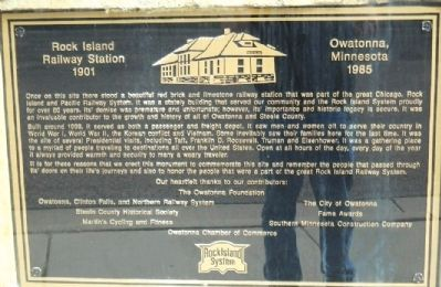 Rock Island Railway Station 1901 Marker image. Click for full size.