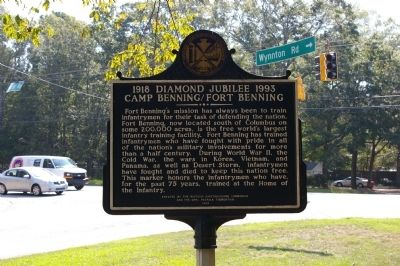 1918 Diamond Jubilee 1993 Camp Benning / Fort Benning Marker, Side 2 image. Click for full size.