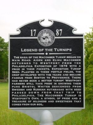 Legend of the Turnips Marker image. Click for more information.