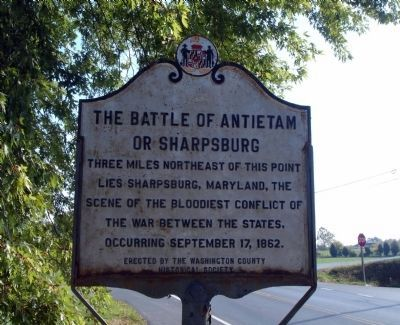 The Battle of Antietam or Sharpsburg image. Click for full size.