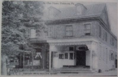 Postcard of St. Clair Mansion on Marker image. Click for full size.