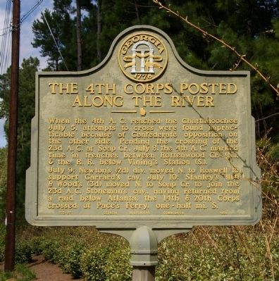 The 4th Corps Posted Along the River Marker image. Click for full size.