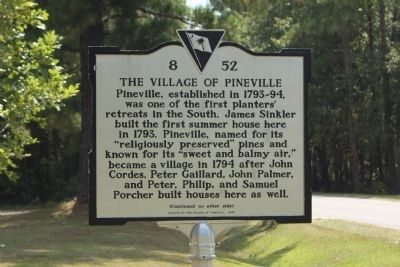 Village of Pineville Marker, front text image. Click for full size.