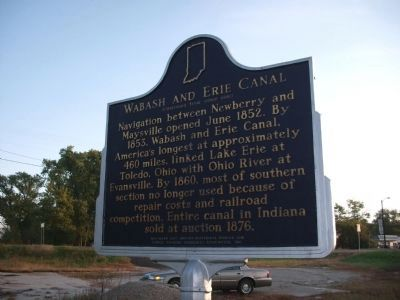Side B - - Wabash and Erie Canal Marker image. Click for full size.