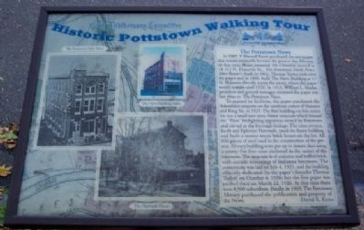 The Pottstown News Marker image. Click for full size.