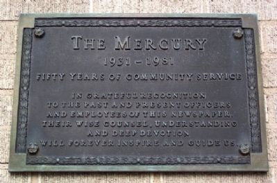 The Mercury 1931-1981 Marker image. Click for full size.