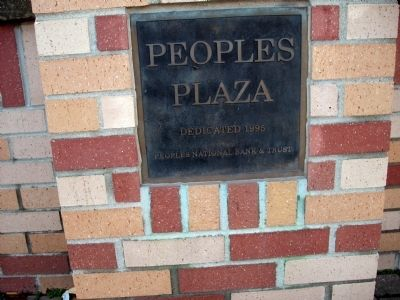 """People's Plaza"" - 1995 Dedication Plaque image. Click for full size."