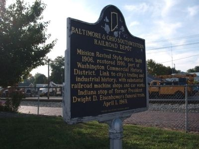 Other View - - Baltimore & Ohio Southwestern Railroad Depot Marker image. Click for full size.