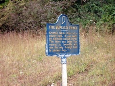Looking North East - - The Buffalo Trace Marker image. Click for full size.