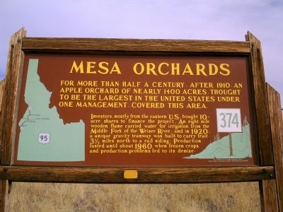 Mesa Orchards Marker image. Click for full size.