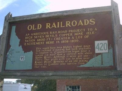 Old Railroads Marker image. Click for full size.
