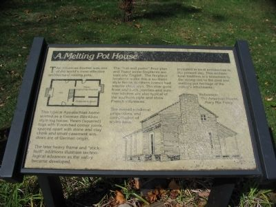 A Melting Pot House Marker image. Click for full size.