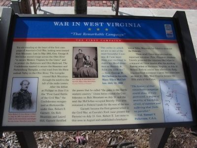 War in West Virginia Marker image. Click for full size.