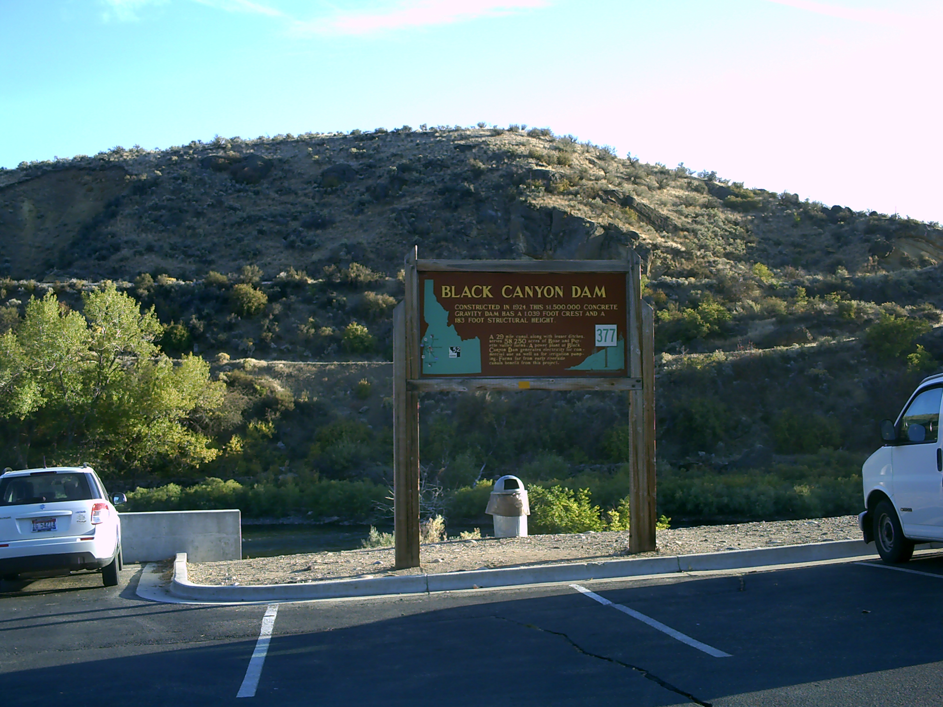 Black Canyon Dam Marker at Wild Rose Park