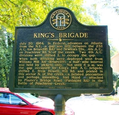 King's Brigade Marker image. Click for full size.
