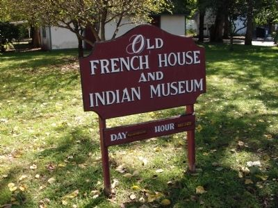 """Old French House & Indian Museum"" - Sign image. Click for full size."