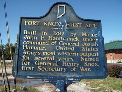 Obverse Side - - Fort Knox, First Site Marker image. Click for full size.
