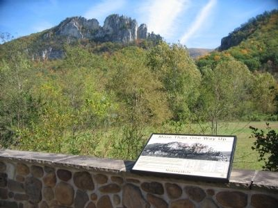 Marker and Seneca Rocks image. Click for full size.
