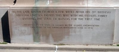 Abraham Lincoln & Family Moved to Illinois Marker image. Click for full size.