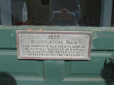 1857 Schoolhouse No. 6 Marker image. Click for full size.