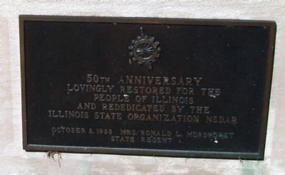 East End Plaque - - 50th Anniversary Restored and Rededicated (1988 ) image. Click for full size.