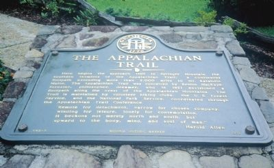 The Appalachian Trail Marker image. Click for full size.