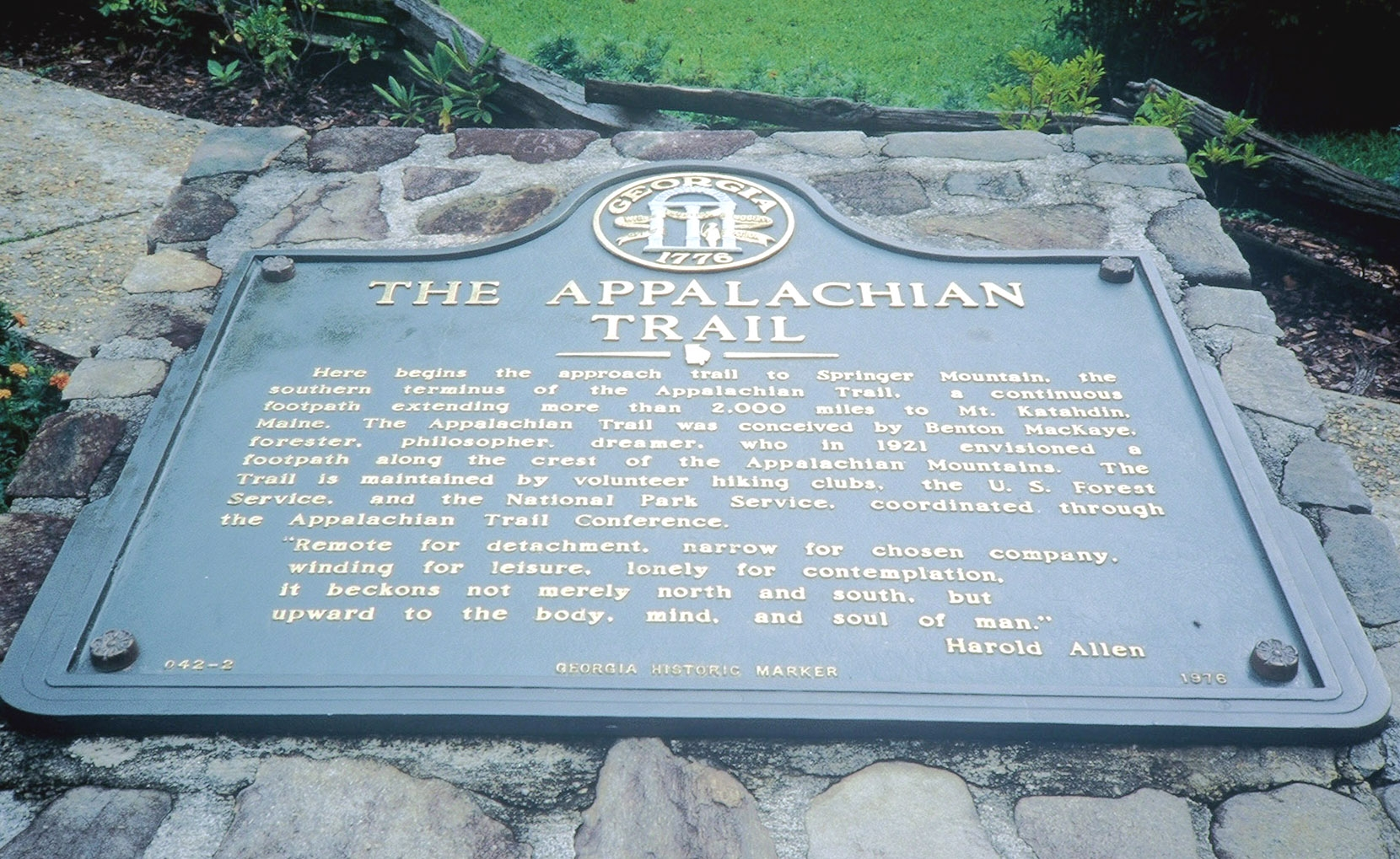 The Appalachian Trail Marker