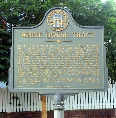 White HouseTract Marker image. Click for full size.