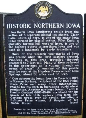Historic Northern Iowa Marker image. Click for full size.