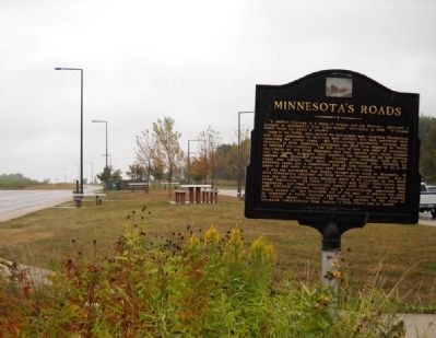 Minnesota's Roads / Welcome to Minnesota Marker image. Click for full size.