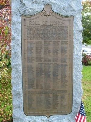 Wilmington Veterans Monument image. Click for full size.
