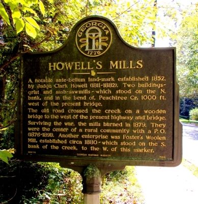 Howell's Mills Marker image. Click for full size.