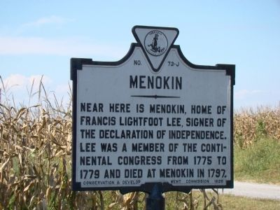 Menokin Marker image. Click for full size.