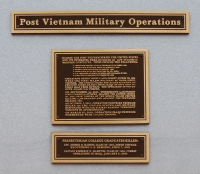 Post Vietnam Military Operations Marker image. Click for full size.